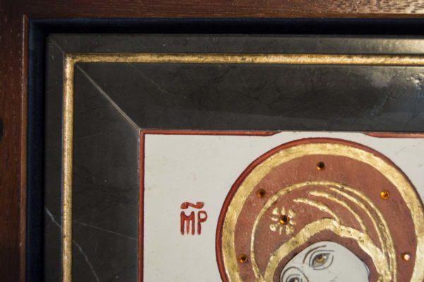 Икона Владимирской Божией Матери № 4 из мрамора, камня, от Гливи, фото 3
