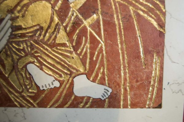 Икона Владимирской Божией Матери № 4 из мрамора, камня, от Гливи, фото 5