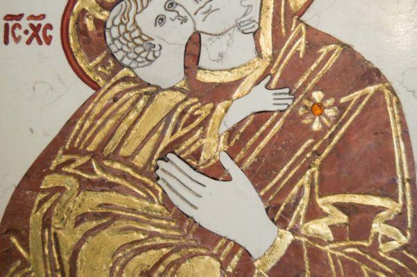 Икона Владимирской Божией Матери № 4 из мрамора, камня, от Гливи, фото 6