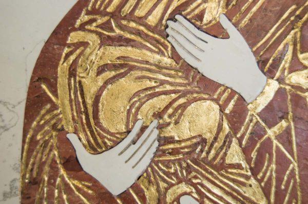 Икона Владимирской Божией Матери № 4 из мрамора, камня, от Гливи, фото 7