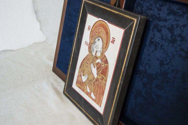 Икона Владимирской Божией Матери № 4 из мрамора, камня, от Гливи, фото 9