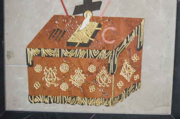 Икона Владимирской Божией Матери № 4 из мрамора, камня, от Гливи, фото 11