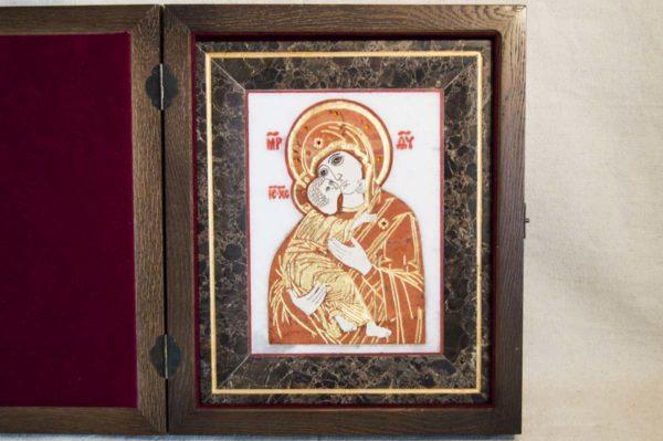 Икона Владимирской Божией Матери № 8 из мрамора, камня, от Гливи, фото 1