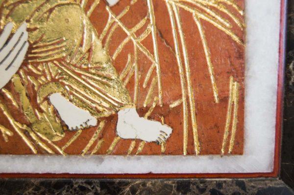 Икона Владимирской Божией Матери № 8 из мрамора, камня, от Гливи, фото 4
