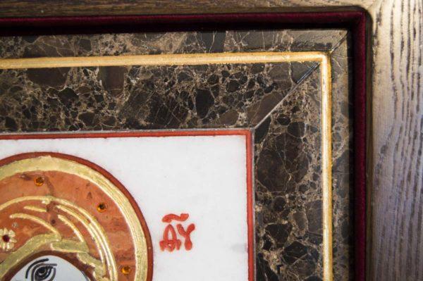 Икона Владимирской Божией Матери № 8 из мрамора, камня, от Гливи, фото 6
