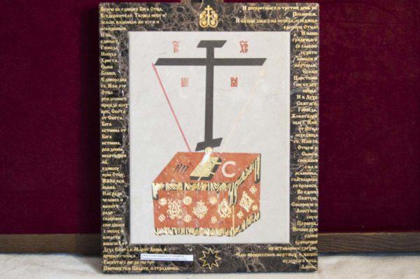 Икона Владимирской Божией Матери № 8 из мрамора, камня, от Гливи, фото 9