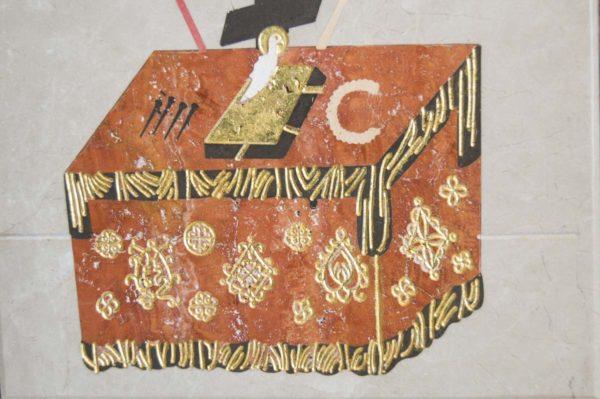 Икона Владимирской Божией Матери № 8 из мрамора, камня, от Гливи, фото 11