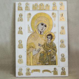Икона Иверской Божией Матери № 1-25-1 из мрамора, камня, от Гливи, фото 11
