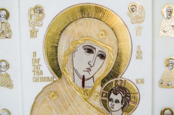 Икона Иверской Божией Матери № 1-25-1 из мрамора, камня, от Гливи, фото 4