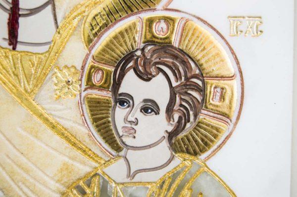 Икона Иверской Божией Матери № 1-25-1 из мрамора, камня, от Гливи, фото 10