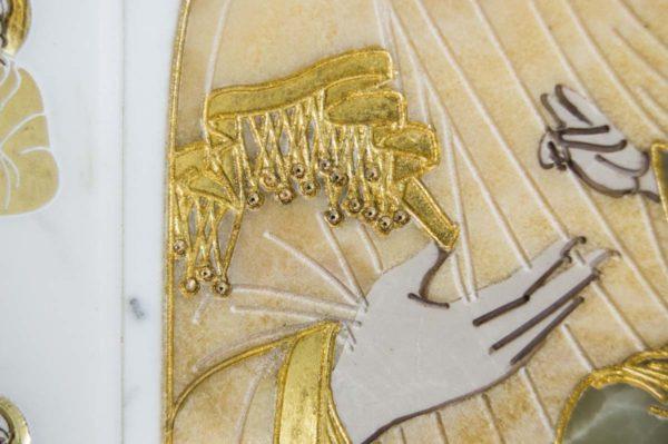 Икона Иверской Божией Матери № 1-25-1 из мрамора, камня, от Гливи, фото 9