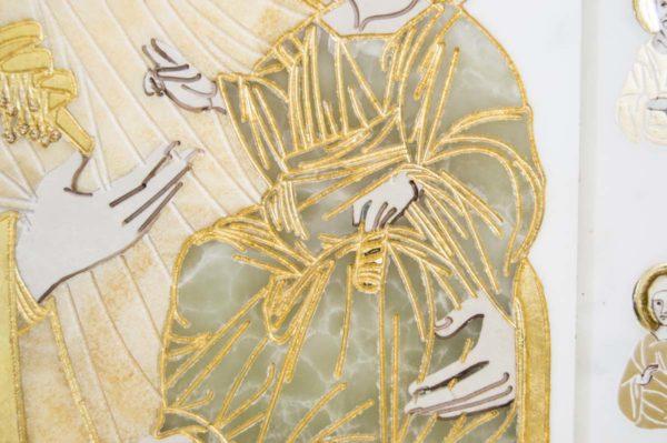 Икона Иверской Божией Матери № 1-25-1 из мрамора, камня, от Гливи, фото 6