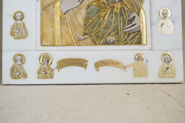 Икона Иверской Божией Матери № 1-25-1 из мрамора, камня, от Гливи, фото 5