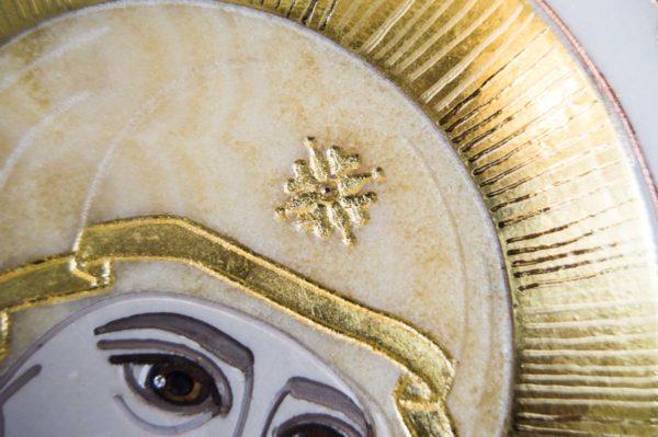 Икона Иверской Божией Матери № 1-25-1 из мрамора, камня, от Гливи, фото 13