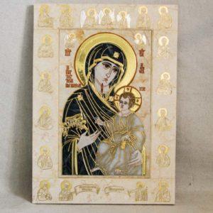 Икона Иверской Божией Матери № 1-25-2 из мрамора, камня, от Гливи, фото 7