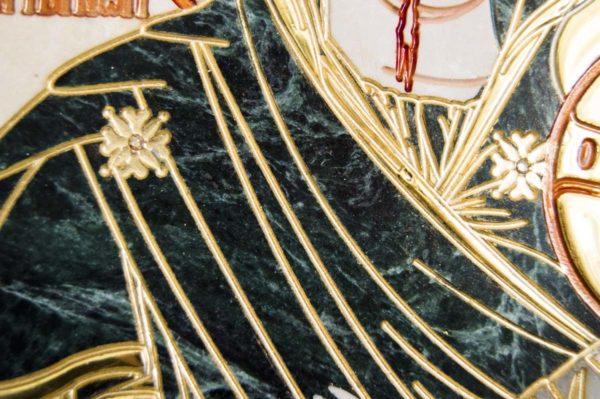 Икона Иверской Божией Матери № 1-25-2 из мрамора, камня, от Гливи, фото 11
