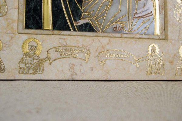 Икона Иверской Божией Матери № 1-25-2 из мрамора, камня, от Гливи, фото 9