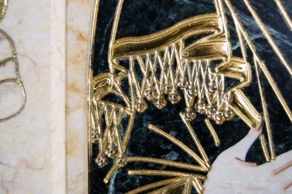Икона Иверской Божией Матери № 1-25-2 из мрамора, камня, от Гливи, фото 6