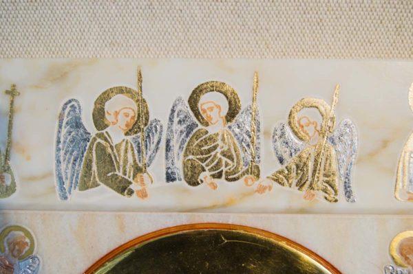 Икона Иверской Божией Матери № 1-25-4 из мрамора, камня, от Гливи, фото 11