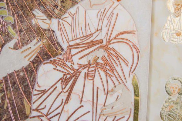 Икона Иверской Божией Матери № 1-25-4 из мрамора, камня, от Гливи, фото 5