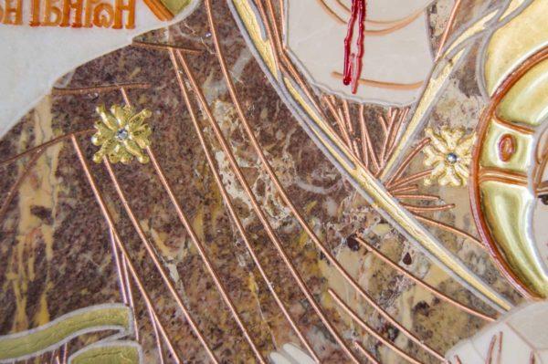 Икона Иверской Божией Матери № 1-25-4 из мрамора, камня, от Гливи, фото 10