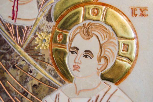 Икона Иверской Божией Матери № 1-25-4 из мрамора, камня, от Гливи, фото 9