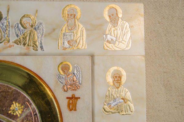 Икона Иверской Божией Матери № 1-25-4 из мрамора, камня, от Гливи, фото 1