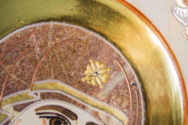 Икона Иверской Божией Матери № 1-25-4 из мрамора, камня, от Гливи, фото 2