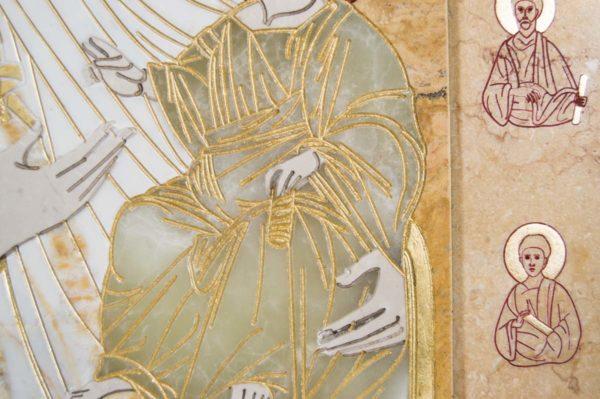 Икона Иверской Божией Матери № 1-25-5 из мрамора, камня, от Гливи, фото 9
