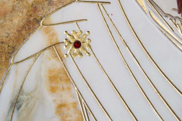 Икона Иверской Божией Матери № 1-25-5 из мрамора, камня, от Гливи, фото 3
