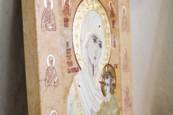 Икона Иверской Божией Матери № 1-25-5 из мрамора, камня, от Гливи, фото 5