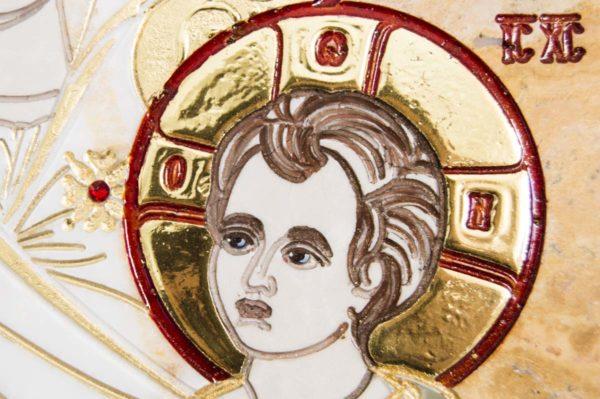 Икона Иверской Божией Матери № 1-25-5 из мрамора, камня, от Гливи, фото 12