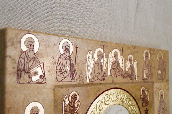 Икона Иверской Божией Матери № 1-25-5 из мрамора, камня, от Гливи, фото 10