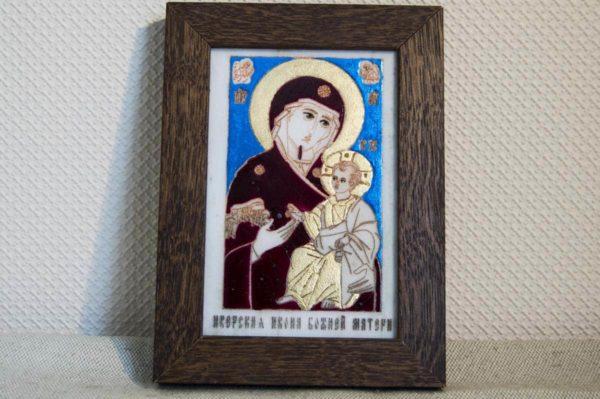 Икона Иверской Божией Матери № 8 подарочная из мрамора, камня, от Гливи, фото 1