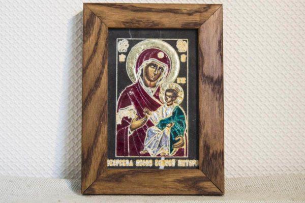 Икона Иверской Божией Матери № 9 подарочная из мрамора, камня, от Гливи, фото 1