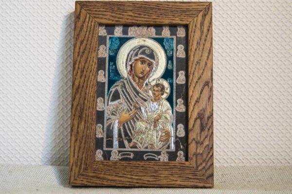 Икона Иверской Божией Матери № 20 подарочная из мрамора, камня, от Гливи, фото 1