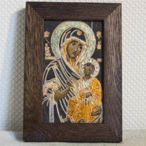 Икона Иверской Божией Матери № 12 подарочная из мрамора, камня, от Гливи, фото 1