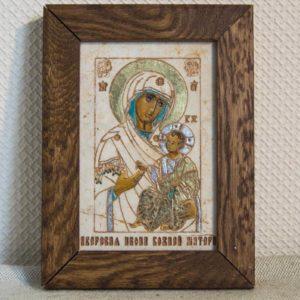 Икона Иверской Божией Матери № 13 подарочная из мрамора, камня, от Гливи, фото 1