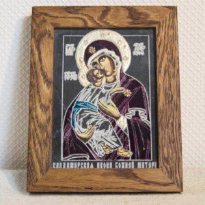 Икона Владимирской Божией Матери № 06 из мрамора, камня, от Гливи, фото 1