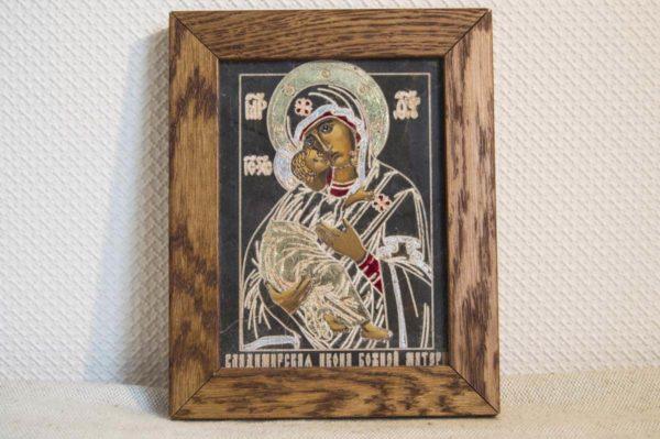Икона Владимирской Божией Матери № 08 из мрамора, камня, от Гливи, фото 1