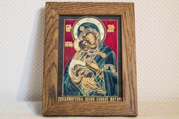 Икона Владимирской Божией Матери № 09 из мрамора, камня, от Гливи, фото 1