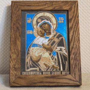 Икона Владимирской Божией Матери № 10 из мрамора, камня, от Гливи, фото 1