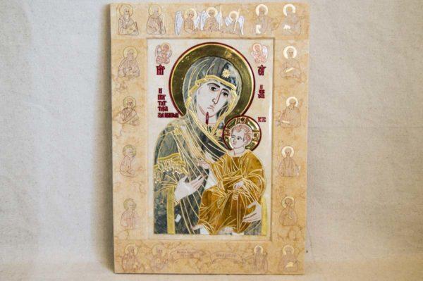 Икона Иверской Божией Матери № 1-25-7 из мрамора, камня, от Гливи, фото 14