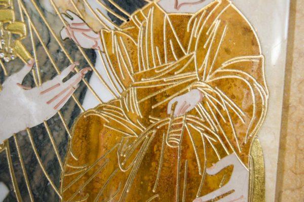 Икона Иверской Божией Матери № 1-25-7 из мрамора, камня, от Гливи, фото 5