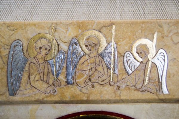 Икона Иверской Божией Матери № 1-25-7 из мрамора, камня, от Гливи, фото 10