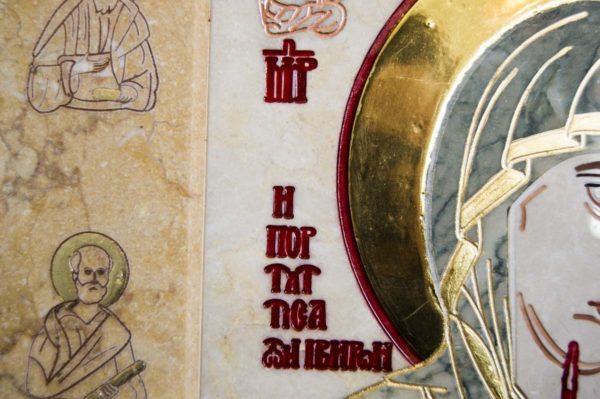 Икона Иверской Божией Матери № 1-25-7 из мрамора, камня, от Гливи, фото 7