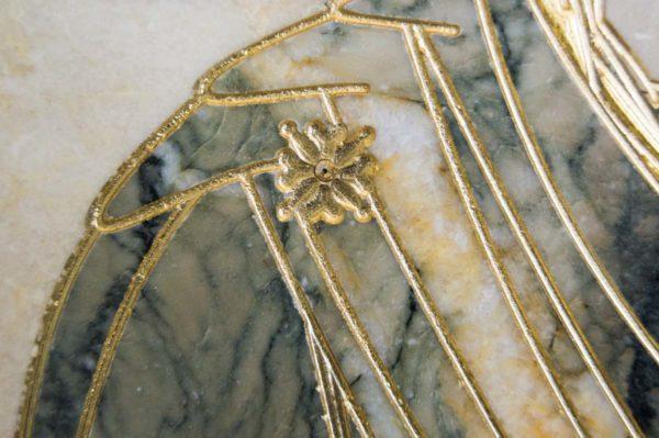 Икона Иверской Божией Матери № 1-25-7 из мрамора, камня, от Гливи, фото 2