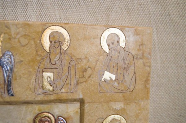 Икона Иверской Божией Матери № 1-25-7 из мрамора, камня, от Гливи, фото 12