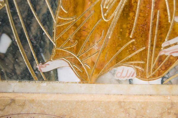 Икона Иверской Божией Матери № 1-25-7 из мрамора, камня, от Гливи, фото 15