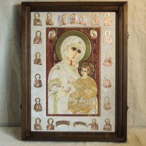 Икона Иверской Божией Матери № 1-25-3 из мрамора, камня, от Гливи, фото 13